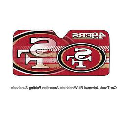 New NFL San Francisco 49ers Car Truck Windshield Folding SunShade Large Size